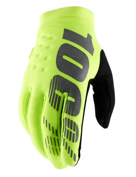 Зимние мото перчатки RIDE 100% BRISKER Cold Weather [Fluo Yellow]