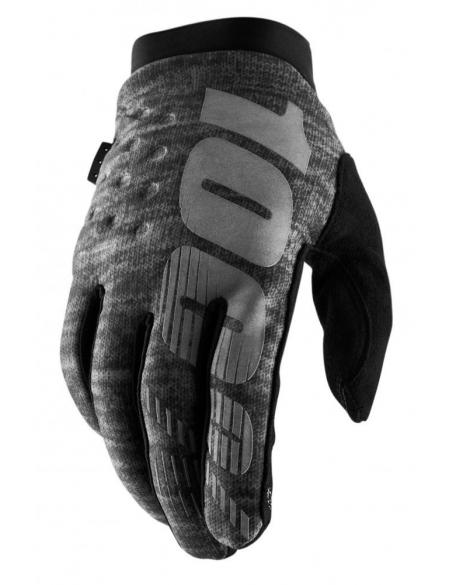 Зимние мото перчатки RIDE 100% BRISKER Cold Weather [Heather Grey]