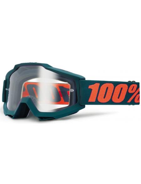 Мото очки 100% ACCURI Goggle Matte Gunmetal - Clear Lens