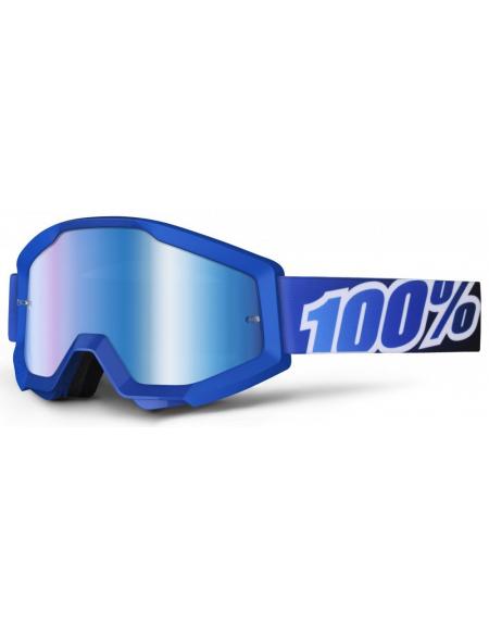 Мото очки 100% STRATA Goggle Blue Lagoon - Mirror Blue Lens
