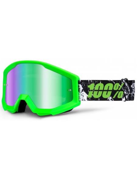 Мото очки 100% STRATA Goggle Crafty Lime - Mirror Green Lens