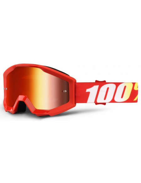 Мото очки 100% STRATA Goggle Furnace - Mirror Red Lens