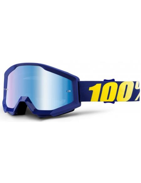 Мото очки 100% STRATA Goggle Hope - Mirror Blue Lens