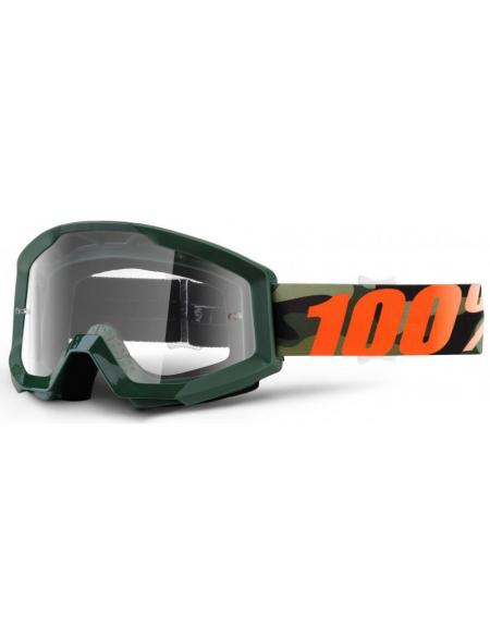 Мото очки 100% STRATA Goggle Huntsitan - Clear Lens