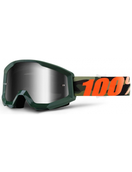 Мото очки 100% STRATA Goggle Huntsitan - Mirror Silver Lens