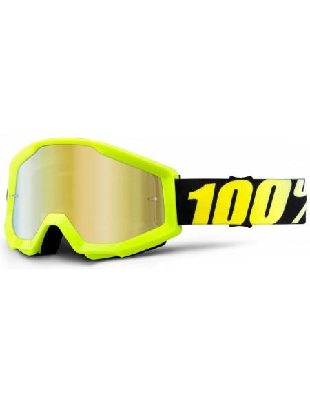 Мото очки 100% STRATA Goggle Neon Yellow - Mirror Gold Lens