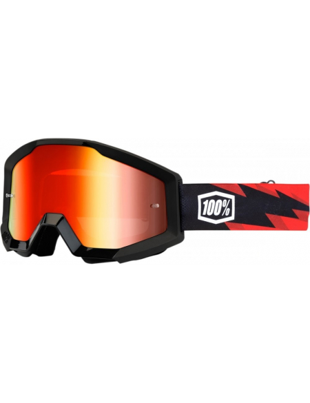 Мото очки 100% STRATA Goggle Slash - Mirror Red Lens
