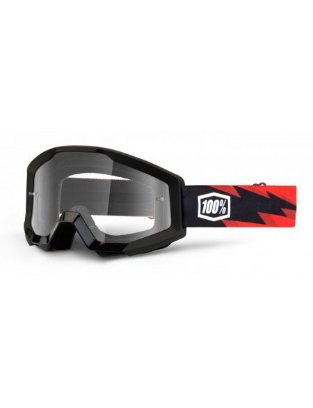 Мото очки 100% STRATA Moto Goggle Slash - Clear Lens