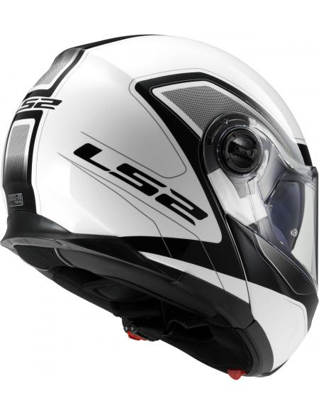 LS2 FF325 STROBE CIVIK, WHITE BLACK