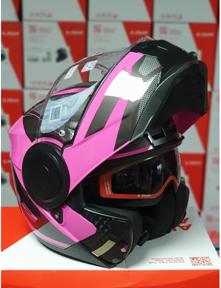 LS2 FF902 SCOPE AXIS BLACK PINK