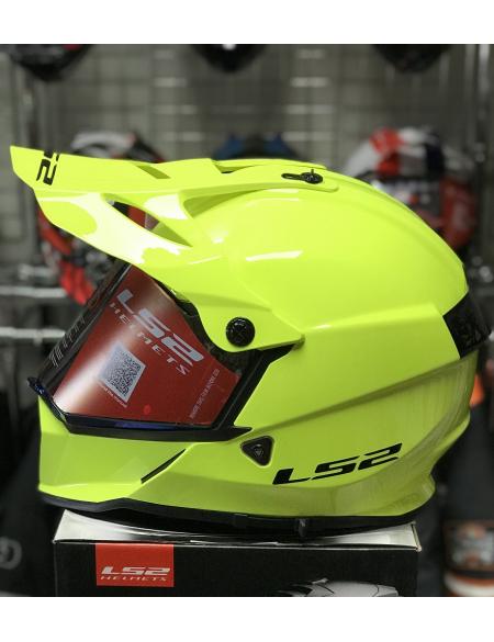 LS2 MX436 PIONEER GLOSS, HI-VIZ YELLOW