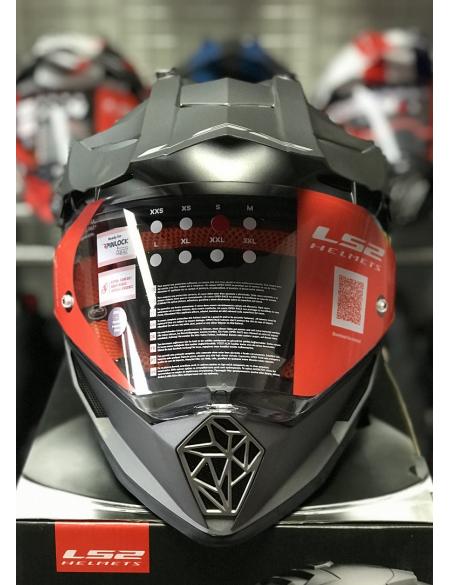 LS2 MX436 PIONEER MATT TITANIUM