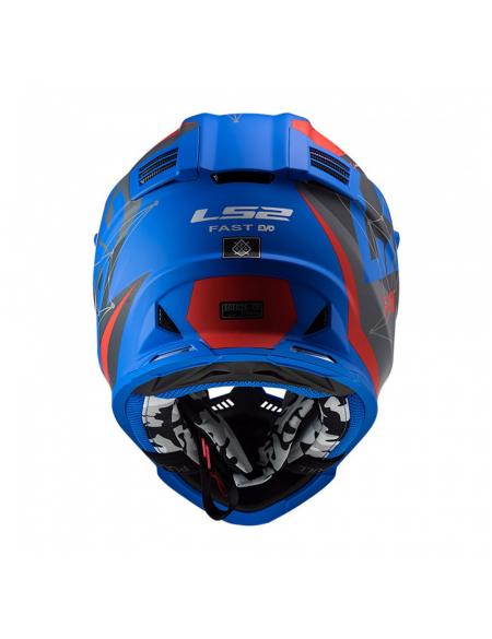 LS2 MX437 FAST EVO ALPHA MATT BLUE