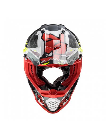 LS2 MX437 FAST EVO CRUSHER BLACK RED