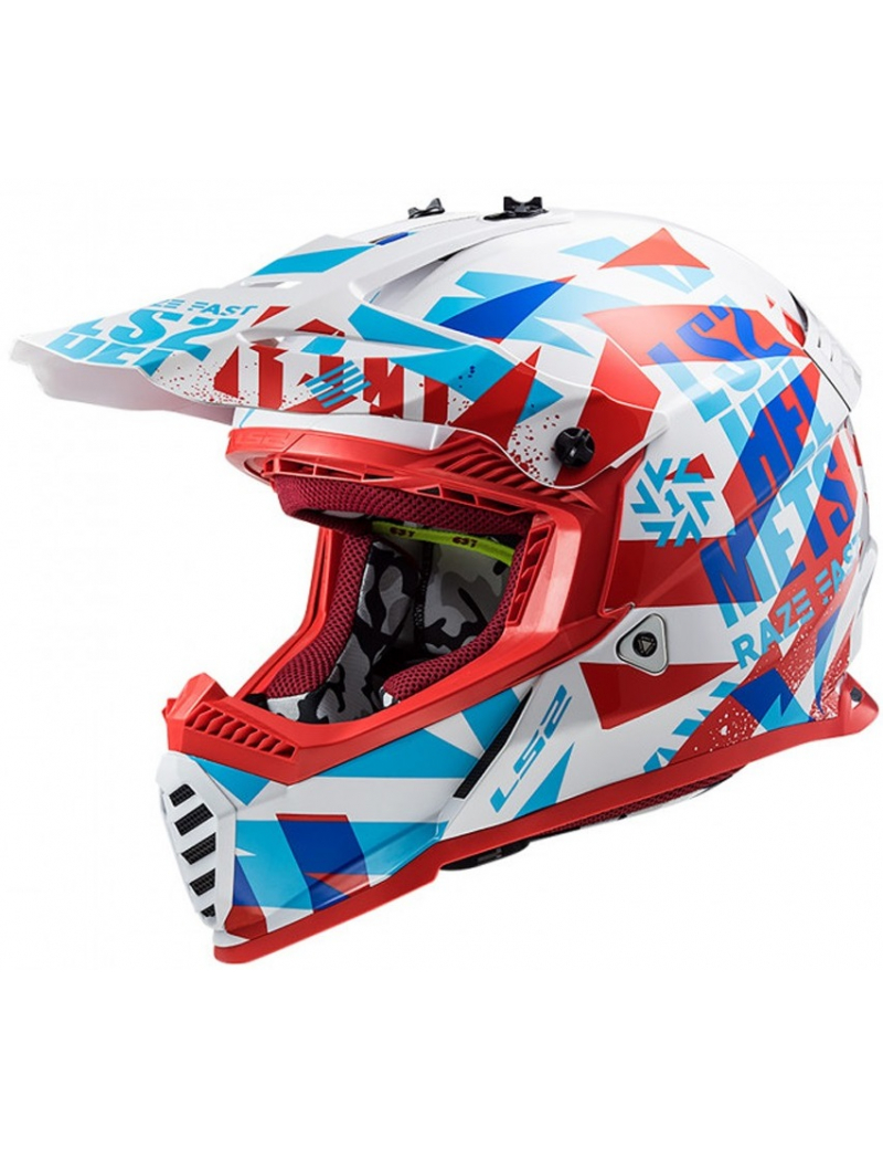 LS2 MX437 FAST EVO FUNKY RED WHITE