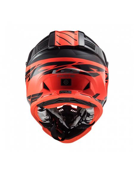 LS2 MX437 FAST EVO ROAR BLACK RED