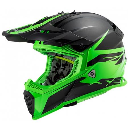 LS2 MX437 FAST EVO ROAR MATT BLACK GREEN