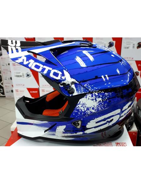 LS2 MX437 FAST GATOR BLUE