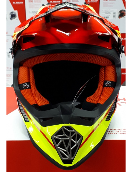 LS2 MX437 FAST GATOR RED