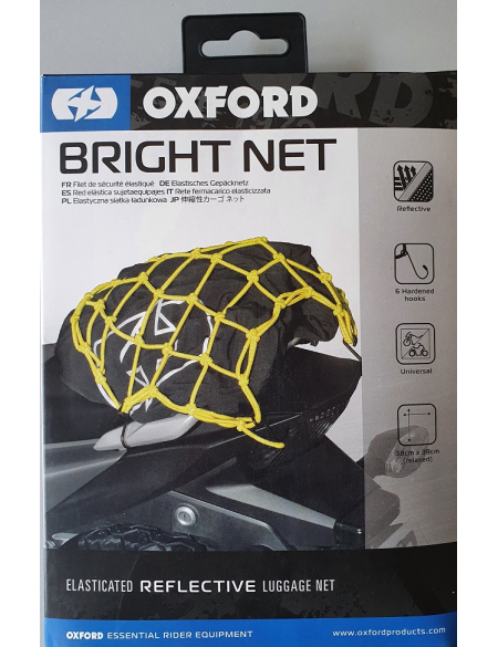Багажная сетка с отражением Oxford Bright Net Yellow/Reflective